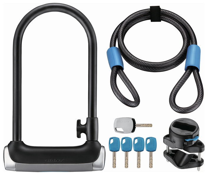 giant surelock protector 1 dt u lock and cable combo pack 2016. Black Bedroom Furniture Sets. Home Design Ideas