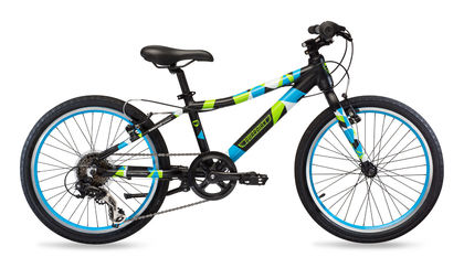 Guardian 20 inch 6-speed Black-Blue-Green kid's bike