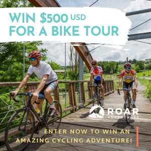 Win 500 for a bike tour 3 sq for brk