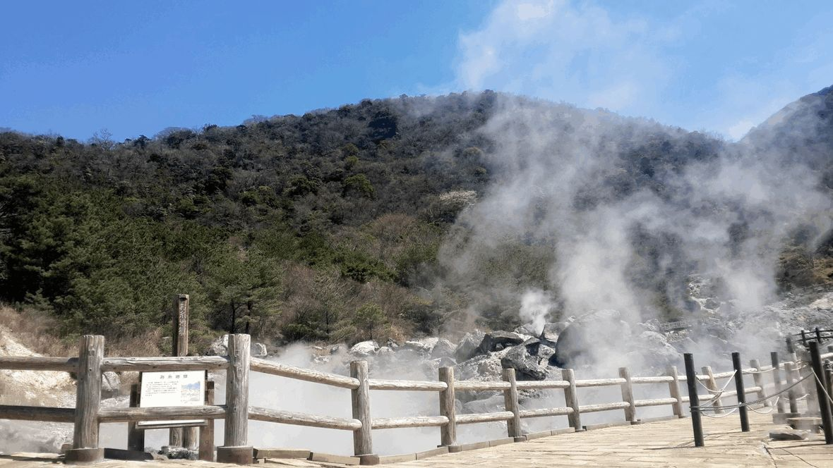Geothermic hot springs